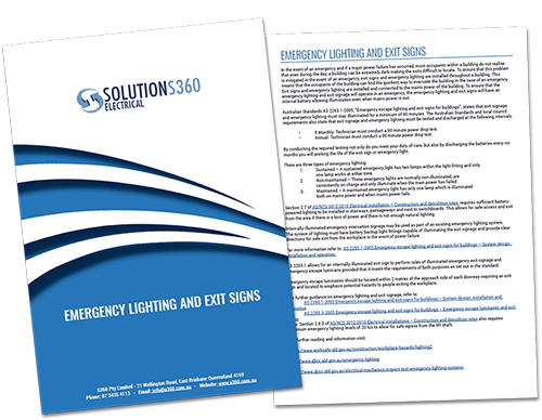 download pdf - emergency lighting - s360